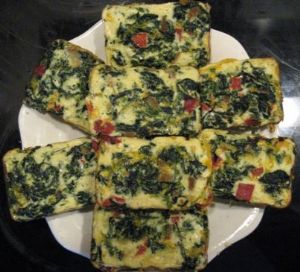 Spinach, Roasted Peppers and Cheese Cups to Go