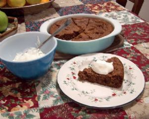Apple Cider Gingerbread with Greek Yogurt Lemon Sauce