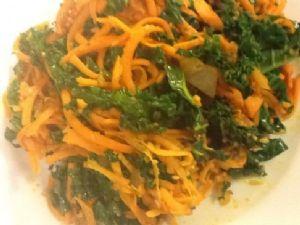 Kale and Sweet Potato Sautee