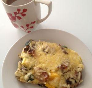 Egg and Veggies Breakfast casserole