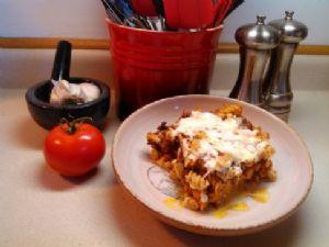 Savory pasta bake w/lean ground beef
