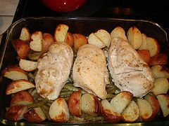 Lemon Chicken with Green Beans and New Potatoes