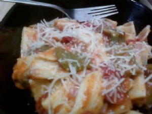 ziti with turkey kielbasa