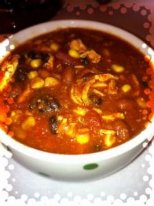 Weight Watchers Crock Pot Chicken Taco Chili 6P+