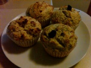 Blueberry-Banana Muffins with Crumb Topping