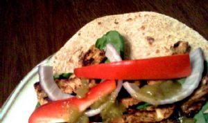 Turkey Fajitas with Baby Spinach & Red Peppers