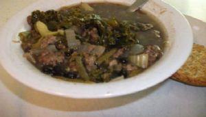 Tonya's vegie, beef under 100 calories soup