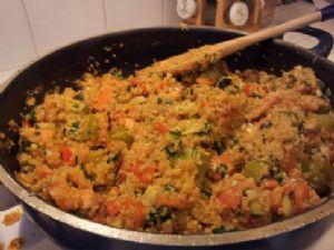 Ben's Killer Quinoa Primavera (1/2c=serving)
