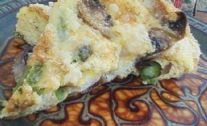 Asparagus and Sauted Mushroom Frittata