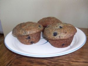 Moist Blueberry Bran Muffins