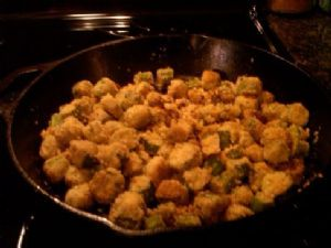 Country Style Pan-fried Okra