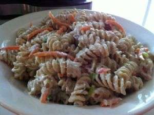 L.R. tuna pasta salad