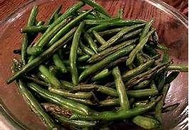Roasted skillet:  Green Beans w. Turkey Kielbasa