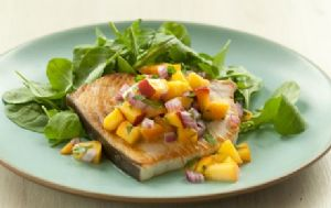 Pan Seared Tilapia with Summer Salsa and Baby Arugula