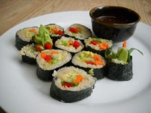 Brown Rice California Sushi Rolls