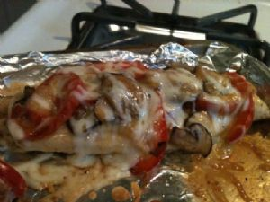 Dijon chicken with portabella mushrooms