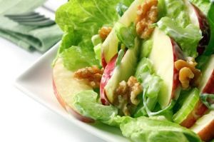Apple Salad with Chia Dressing