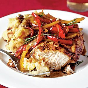 Cooking Light   Roast Chicken With Balsamic Bell Peppers