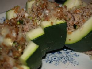 Zucchini, Bulgur, Turkey Bake