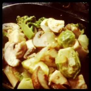 Food & Wine Pasta with Chicken and Brussels Sprouts