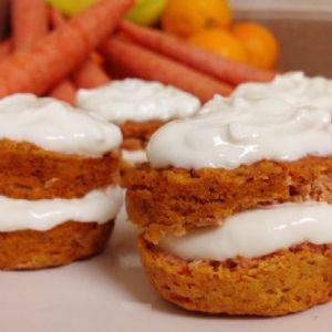 Rice Flour Banana Carrot Cupcakes