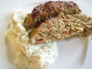 BBQ Turkey Meatloaf & Mashed Cauliflower