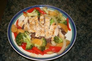 Clementine Chicken with Vegetables and Quinoa