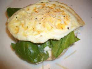 Ricotta, Arugula, Egg Sandwich