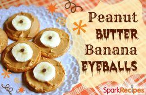 Peanut Butter Banana Eyeballs
