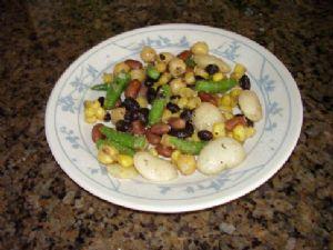 5 Bean Salad using Dried Beans