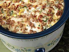 Slow Cooker Turkey Sausage Breakfast Casserole