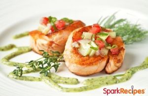 30-Minute Salmon with Strawberry Salsa
