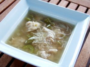 Spring fresh chicken soup (clean eating)