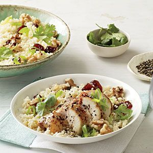 Couscous Salad with Chicken, Dates, and Walnuts