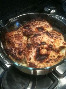 Cheese and Mustard Pork Chops and Potatoes