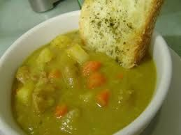 Split Pea Soup with bacon