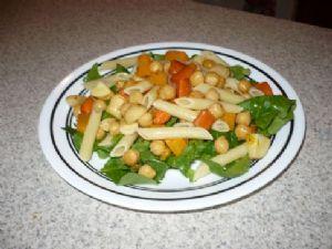 Roasted Chickpea Pasta Salad