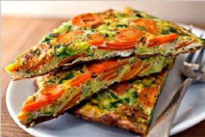 Carrot and Leek Frittata with Terragon