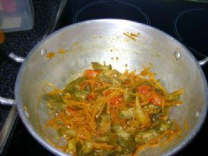 Carrot-Okra curry