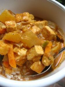 Red Curry Tofu and Vegetables