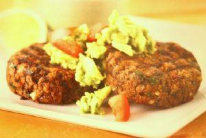 Black Bean Cakes w/ Guacamole