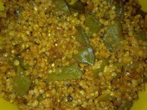 Bottle gourd-Flat beans-Pearl millet Pulao.