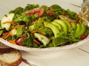 Fresh Garden Salad with Strawberries