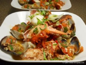 HCG Phase 2 - Lobster and Clams with Tomato Veal Broth and Cauliflower