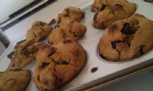 Pumpkin Chocoloate chip pecan muffins