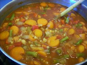 Moroccan Inspired Vegetable Soup