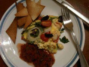 Crustless Greek Salad Quiche