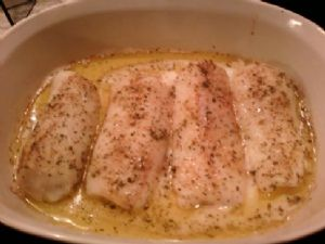 Shannon's Baked Cod with Wildtree Scampi
