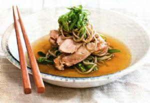 Chicken & Sesame Noodles in Ginger Broth