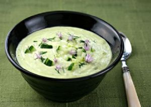 Chilled Asparagus Soup With Spinach & Avocado
